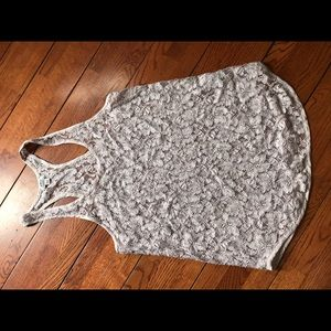 Aritzia Wilfred sheer lace blouse